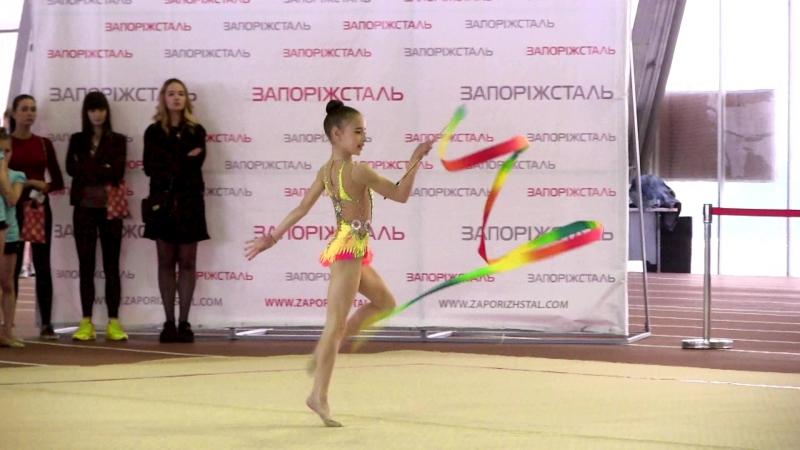 54 - 6 - Бехтир Надежда 2006 г.р. - лента - 2 место - Чемпионат Запорожской области - 20-22 мая 2016