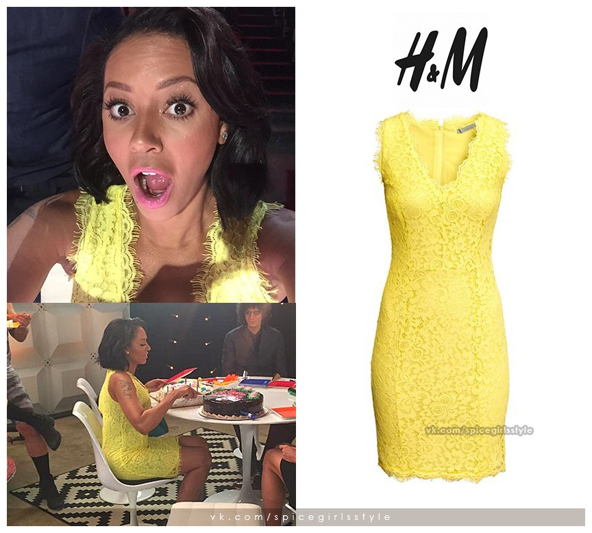 Mel b yellow dress agt