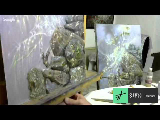 Александр Маранов Картина в технике Сияние - Звенящий кедр