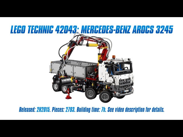 'Lego Technic 42043: Mercedes-Benz Arocs 3245' Unboxing, Speed Build Review