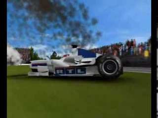 F1 Kubica crash 3D 2007 Canada - Real