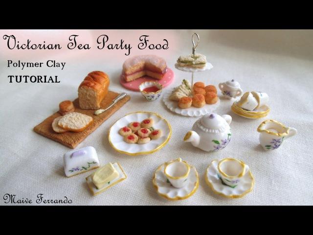 Victorian Tea Party 2: Simple Food, Polymer Clay TUTORIAL || Maive Ferrando