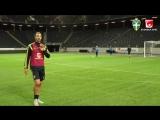 Boom boom!!! En kanon i krysset från Zlatan Ibrahimovic på dagens träning. Rysslandsmatchen närmar sig och sedan fyller vi Frien