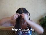 Мальвина с косами на длинные волосы 2