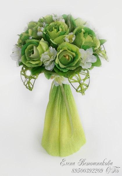 Салатовая свадьба. Букет из конфет (5 фото) - картинка