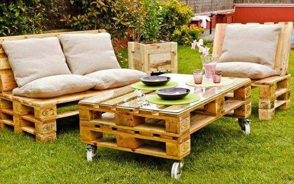 Садовая мебель из деревянных поддонов своими руками фото