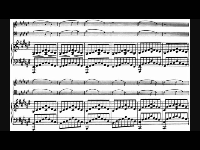 Franck - Piano Trio No. 1 (Trio concertant) in F sharp minor, Op. 11 (1840)