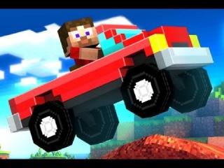 Мультфильм про МАШИНКИ. Minecraft гонки. 1 и 2 заезд
