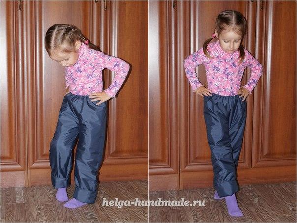 Тёплые детские штанишки на осень своими руками  Выкройка на рост 110-116 см.