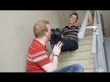 Peter Gets His Hot Boy Feet Worshipped on the Stairs part1