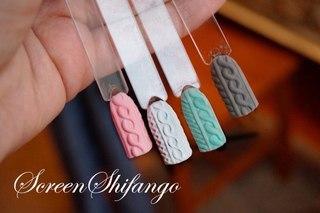 Дизайн ногтей свитер бархатный песок
