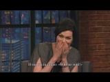Laura Prepon Talks Orange Is The New Black Season 3 - Late Night with Seth Meyers RUS SUB
