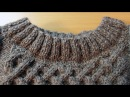 Вязание горловины спицами. Кеттельный шов. How to sew a seam in knitting