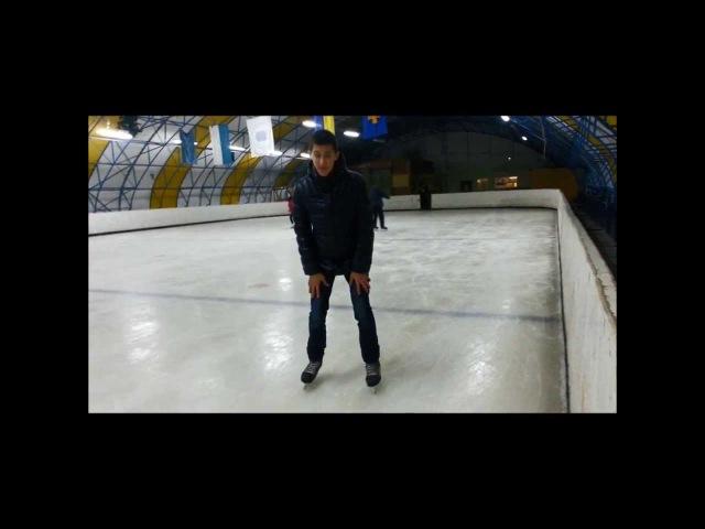 Перебежка спиной вперед,торможение боком на внутренней ноге| Ice skating | HealgiZemp |4