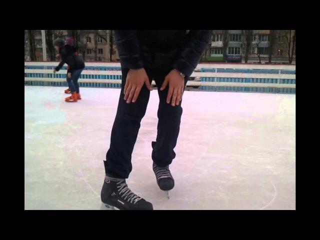 Как правильно тормозить на коньках | Ice skating | HealgiZemp |2