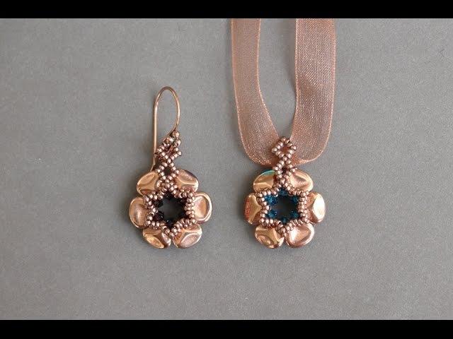 Free Beading Tutorial - Czech Rose Petals Earrings - Easy Beading Pattern