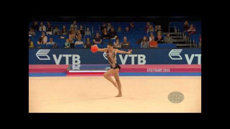 Luiza SADYAN (ARM) 2015 Rhythmic Worlds Stuttgart - Qualifications Ball