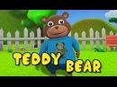 Teddy Bear Teddy Bear turn around 3D Animation English Nursery rhyme