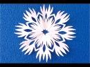 DIY Ажурная снежинка для украшений ваших окон ✽How to ✽ cut a paper snowflake ✽