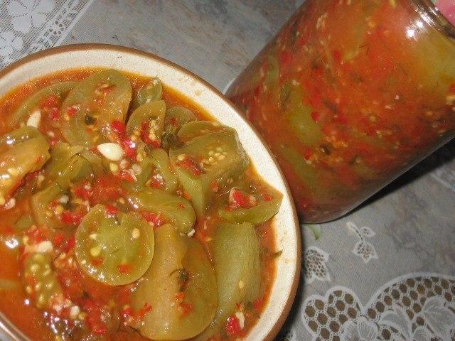 Аджика из зеленых помидоров на зиму рецепты