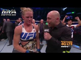 Холли Холм – Интервью после победы над Рондой Роузи на UFC 193