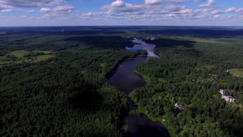 Flight over Blue Lakes Aerial video Аэросъемка Голубые озёра