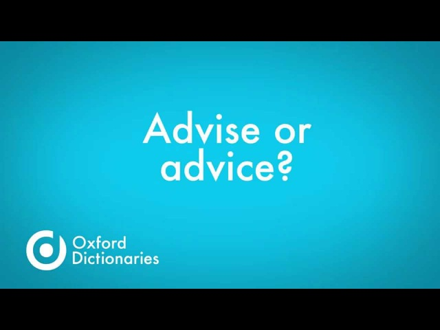 Kids English   Advise and advice whats the difference