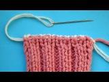 Binding off Как закрыть петли резинки 2х2  Урок вязания спицами  58