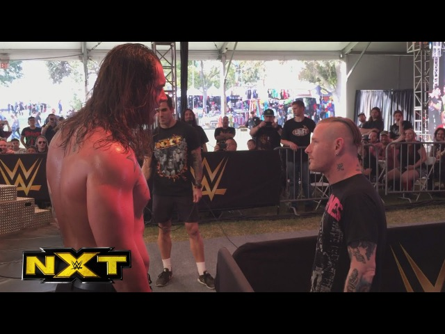 Slipknot's Corey Taylor hits Baron Corbin at the NXT Aftershock Festival