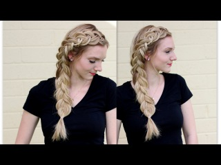How to: Side Dutch Braid with Micro Braids