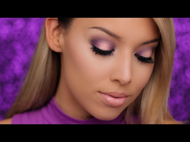 Purple Halo Smokey Eye NYX Highlight/Contour Kit