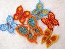 Бабочка вязаная крючком. Все по одной схеме / Crochet butterfly tutorial / Mariposas a crochet
