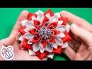 Цветы Канзаши из репса и парчи ✄ Kulikova Anastasia