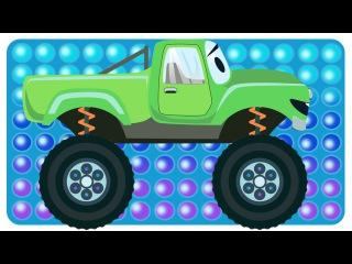 ✔ Arabalar cizgi filmleri. Monster Truck, Yarış arabası, Kamyon çekici. Çizgi film türkçe izle ✔