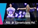 Mellanakten Allt är Eurovisions fel i Melodifestivalen 2016