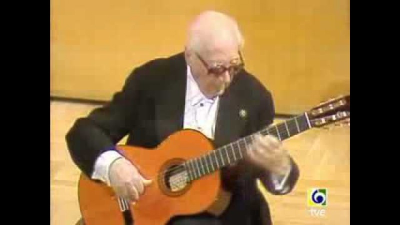 Still Playing at 93 years old Most people that age are dead Andres Segovia Prelude1 Villa Lobos