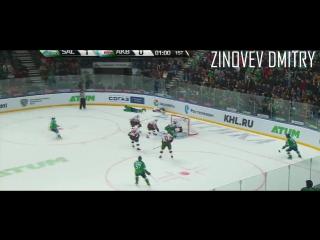Ryan Wilson hits Andreas Engqvist with his helmet to head