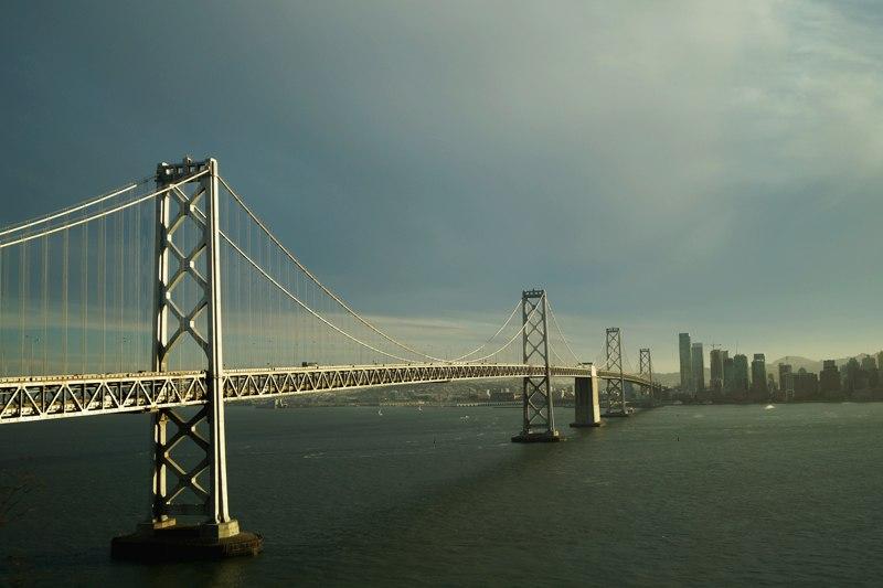 Мост через залив в Сан-Франциско