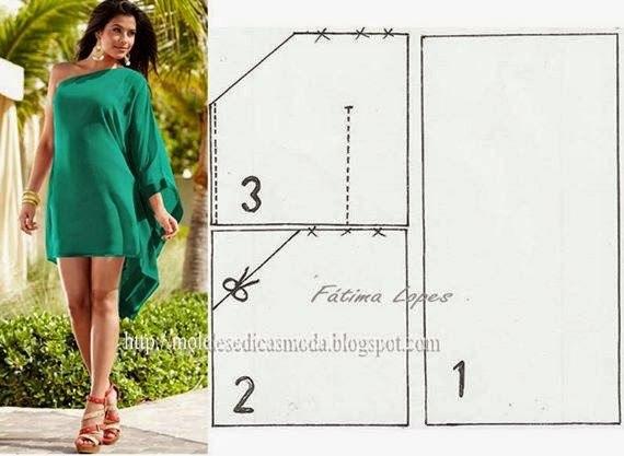 Платье с одним рукавом шить