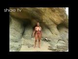 shaetvfan-Hot Black Model on Beach in Thong String Bikini