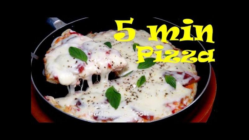 Hướng dẫn làm PIZZA BẰNG CHẢO Pizza 5 phút pizza không cần lò nướng Rán chiên Pizza đơn giản tại nhà