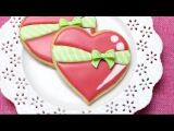 How to decorate a heart cookie with a Wilton sugar bow - Cute Valentines day treat for your love