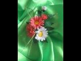 Ромашки. Цветы из ткани своими руками /2 часть/. Мастер класс.