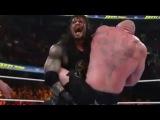 WWE Fastlane 2016 - Brock lesnar vs Roman reigns vs Dean ambrose full match