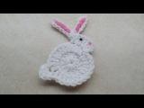 CROCHET How to #Crochet Easy Bunny Rabbit Applique Easter #TUTORIAL #206 LEARN CROCHET
