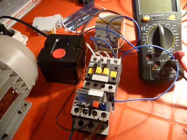 Подключение электромагнитного пускателя часть№3