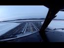 запуск, руление, взлет в полярное утро Мурманск, B-737