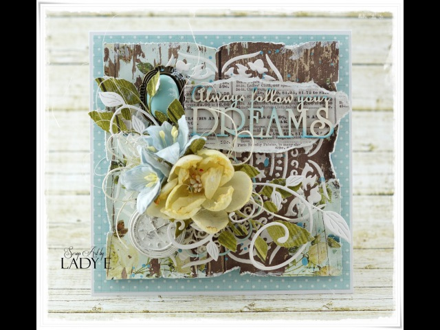 Always Follow Your Dream Mixed Media Card Tutorial MME Scrapiniec