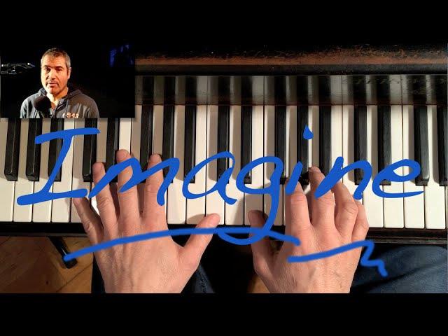 How to really play Imagine by John Lennon piano tutorial - con subtítulos españoles opcionales