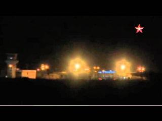 Кадры ночного вылета российских бомбардировщиков в Сирии.